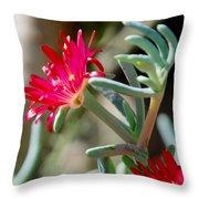 Bright Pink Flower Throw Pillow
