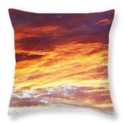 Bright Summer Sky Throw Pillow