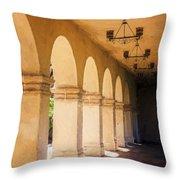 Bright Sun Cool Shade Balboa Park Throw Pillow
