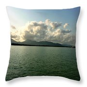 Bright Sun Set Throw Pillow