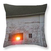 Bright Sunrise Through Barn Throw Pillow