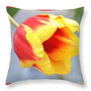 Bright Tulip Throw Pillow