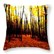 Bright Woods Throw Pillow