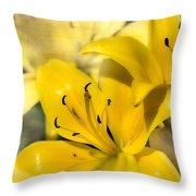 Bright Yellow Throw Pillow