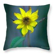 Bright Yellow Wildflower Throw Pillow