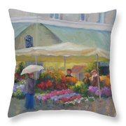 Brightening A Rainy Day Throw Pillow