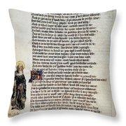 Brigit Of Kildare (d Throw Pillow
