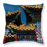 Brilliant Blues Throw Pillow