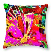 Brilliant Butterfly Throw Pillow