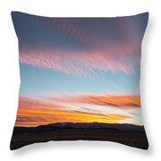 Brilliant Evening Colors Hang Throw Pillow