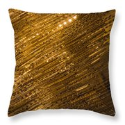 Brilliant Gold And Gems And Jewels Throw Pillow