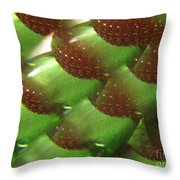 Brilliant Green Abstract 6 Throw Pillow