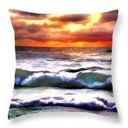 Brilliant Nags Head Sunrise Throw Pillow