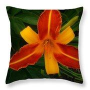 Brilliant Orange Lily Throw Pillow