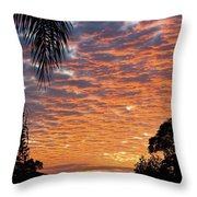 Brilliant Sunset During Winter Throw Pillow