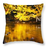 Brilliant Yellows Throw Pillow