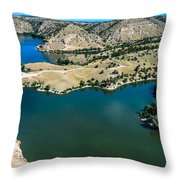 Brimmer Point Of Guernsey State Park Throw Pillow