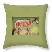 Brindle Greyhound Throw Pillow by Carol Jo Smidt