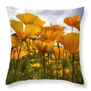 Bring On The Poppies Throw Pillow