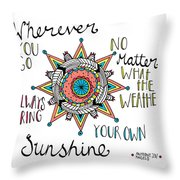 Bring Your Own Sunshine Throw Pillow