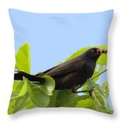 Bringing Home Dinner Throw Pillow