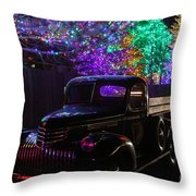 Bringing Home The Tree Throw Pillow