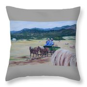 Bringing In The Harvest Throw Pillow