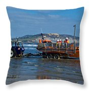 Bringing In The Lifeboat Throw Pillow