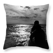 Bringing In The Nets Throw Pillow