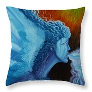 Bringing In Winter Throw Pillow