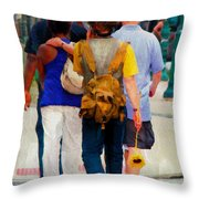Bringing The Sunflower Home Throw Pillow