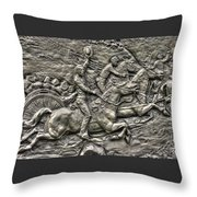 Bringing Up The Battery Detail-b 6th New York Independent Battery Horse Artillery Gettysburg Autumn Throw Pillow