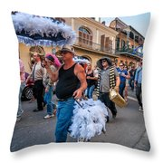 Bringing Up The Rear Throw Pillow