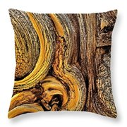 Bristlecone Pine Bark Detail White Mountains Ca Throw Pillow