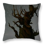 Bristlecone With Star Trails Throw Pillow