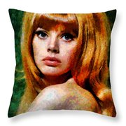 Brit Ekland - Abstract Expressionism Throw Pillow