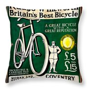 Britains Best Bicycle Throw Pillow
