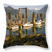 Britannia Beach Throw Pillow