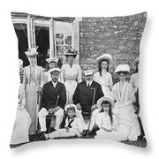 British And Russian Royals Throw Pillow