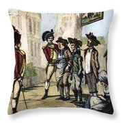 British Army, 1770s Throw Pillow