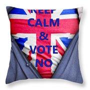 British Businessman Votes No Throw Pillow