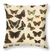 British Butterflies Throw Pillow
