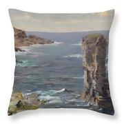 British Coastal View. Coast Of Cornwall Throw Pillow