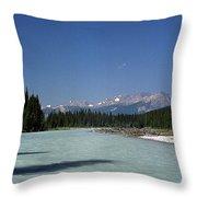 British Columbia Rockies Throw Pillow