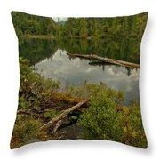 British Columbia Starvation Lake Throw Pillow