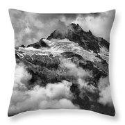 British Columbia Tantalus Mountain Range Throw Pillow