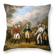 British General John Burgoyne Surrenders At Saratoga Throw Pillow