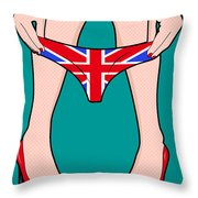 British Girl   Throw Pillow