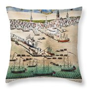 British Landing, 1768 Throw Pillow