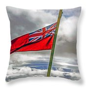 British Merchant Navy Flag Throw Pillow
